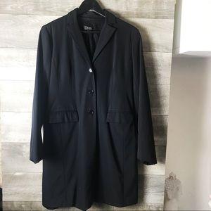 BCBG Women's long trench blazer suit coat